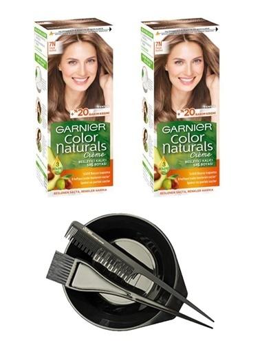 Garnier Garnier 2 Adet Color Naturals Saç Boyası 7N + Saç Boyama Seti Renksiz